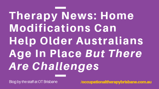 Therapy News: Home Modifications