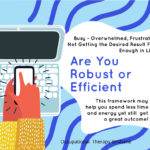 Are You Robust Or Efficient? PLUS September Stands for....?